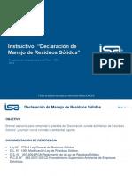PDI-HSQE-Instructivo_Declaración Manejo Residuos Sólidos