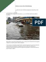 Inundaciones en Zonas Críticas de Quetzaltenango - Material de Apoyo