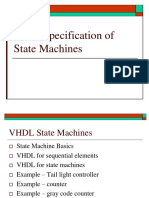 ECE 3561 - Lecture 15 VHDL Specification of State Machines.ppt