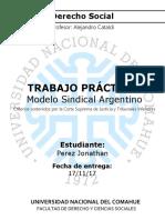 Trabajo Practico - Modelo Sindical Argentino