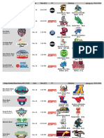 CFB Bowl Schedule