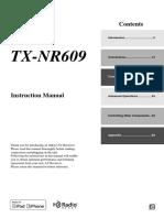 TX-nr609 Manual e