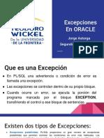 5. Excepciones en ORACLE