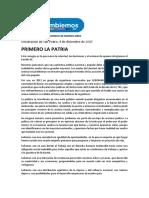 Declaración de San Pedro del partido FE