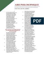 [Alchimie] Nicolas Flamel - Le Sommaire Philosophique
