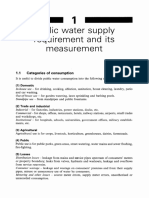 1 Public Water Supply Requirement and Its Measurement 2000 Water Supply Fifth Edition