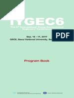 iYGEC Programbook