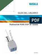 Vaisala Radiosonda RS92-SGP de Vaisala Guia Del Usuario_M210295ES-J