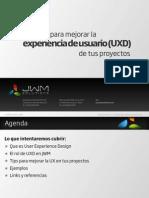 UXD - Tips para mejorar la UXD de tus proyectos