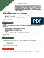 Summary of English Grammar for Scientific Steam