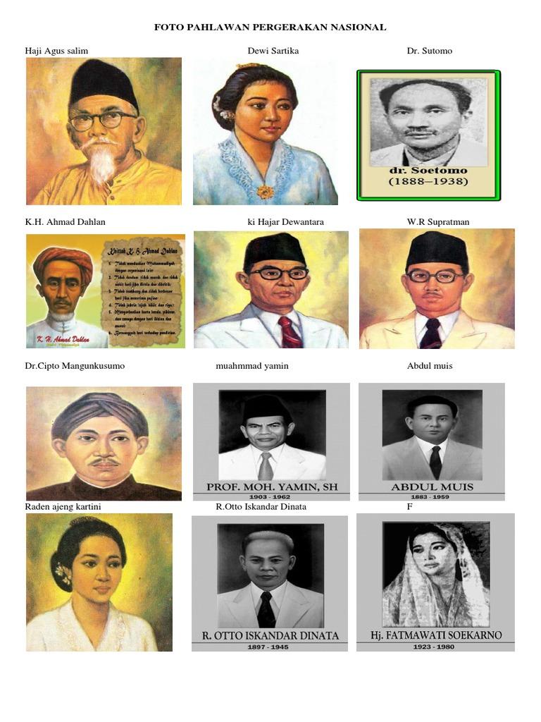 Gambar Pahlawan Pergerakan Kemerdekaan