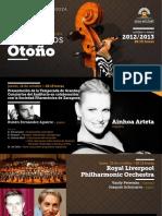 Xviii Temporada de Grandes Conciertos de Otoño 4-10-2012