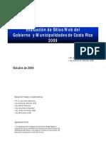 Evaluación de Sitios Web del Gobierno y Municipalidades de Costa Rica 2009