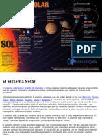 Sistema Solar Infografia
