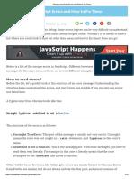 Strange JavaScript Errors and How to Fix Them