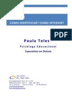 0 - DISLEXIA - Como Identificar - Como Intervir - Actualizado.pdf
