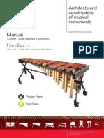 Manual Concert Solist Marimba Xylophone 1.0