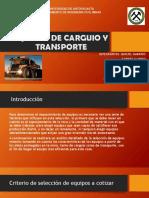 Equipos de Carguio y Transporte Presentacion