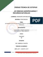Determinación de Parametros Físicos y Químicos de Frutas y Verduras