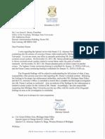Attorney general letter to MSU President Lou Ann Simon