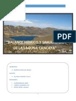 Balance Hidrico Cancaya