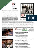 @properties Improv ALUMNI Flyer