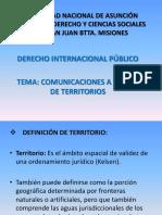Lección 16. Comunicaciones a Través de Territorios
