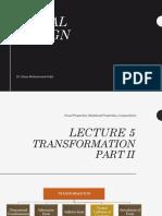 Visual Design Lecture 5