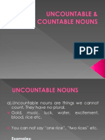 Uncountable & Countable Nouns- Fkg