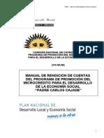 Manual Rendicion de Cuentas