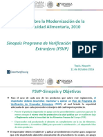 4. Programa de Verificación de Proveedor Extranjero FSVP