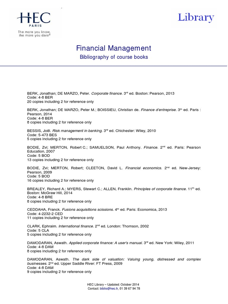 Corporate Finance A Valuation Approach Pdf