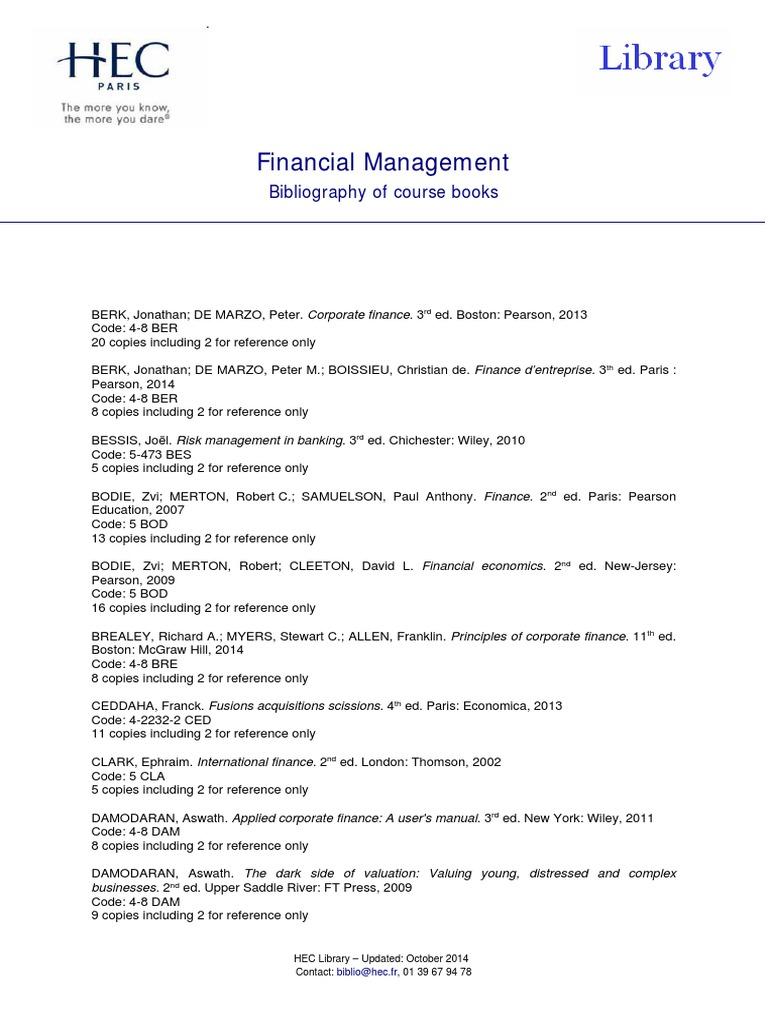 Corporate Finance A Valuation Approach Pdf