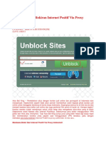 Panduan Buka Blokiran Internet Positif via Proxy Unblocksit