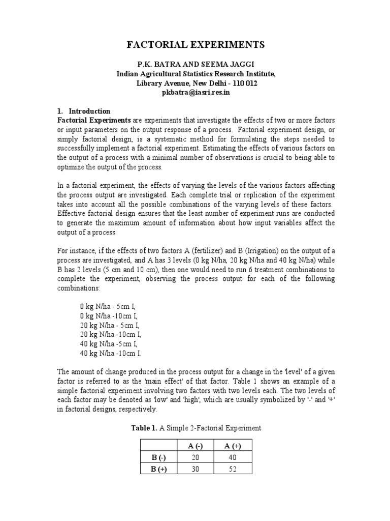 5 Factorial Expts pdf Analysis Variance