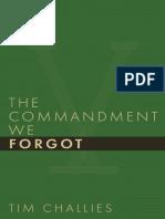 SAMPLE - The Commandment We Forgot.Tim Challies.cruciform Press