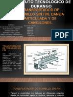 328300914 Transportador de Tornillo Sin Fin Banda Articulada y Cangilones