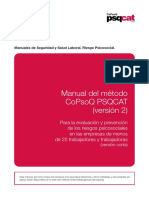 Manual Metodo CoPsoQ PSQCAT v2 Version Corta