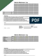 Machine Maintenance Log Sample
