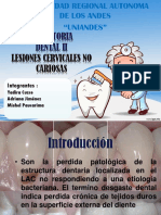 Presentacion Lesiones Cervicales No Cariosas.