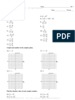 complex numbers division