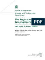 UK Regulation of Geoengineering Report