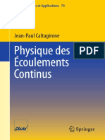 Physique Des Écoulements Continus - Springer