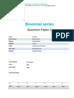 3.1 Binomial Series Core 4 Edexcel a Level Math Qp