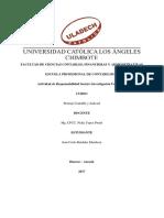Actividad de Responsabilidad Social e Investigacion Formativa