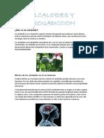 Alcaloides y Drogadiccion