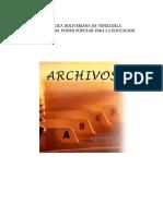 Archivos y Correspondencias