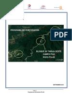 Programa de Perforación Pozo ITU-4Dpara Tesina