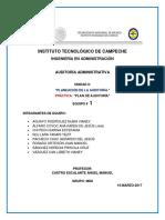 Plan de Auditoria Administrativa Mundo de La Reposteria s.a de c.v. Listo
