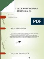 Alat Ukur Suhu Dengan Sensor LM 34